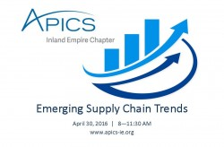 emerging supply chain trends, APICS, APICS-IE